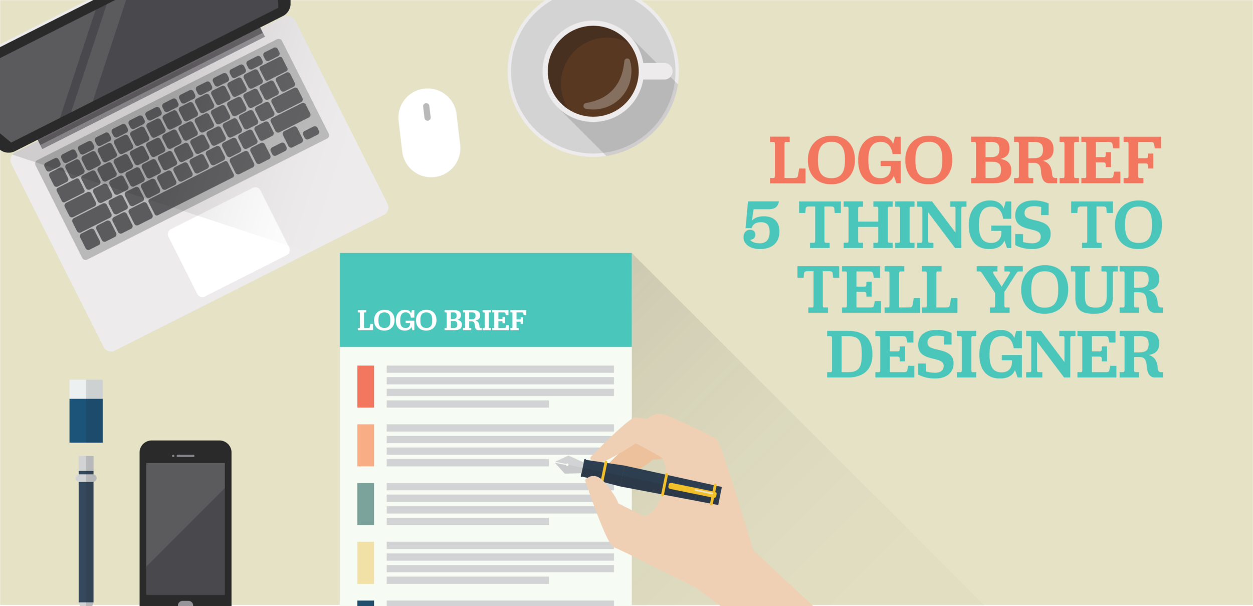 Read more about how to get started with a logo brief (includes FREE design brief template)