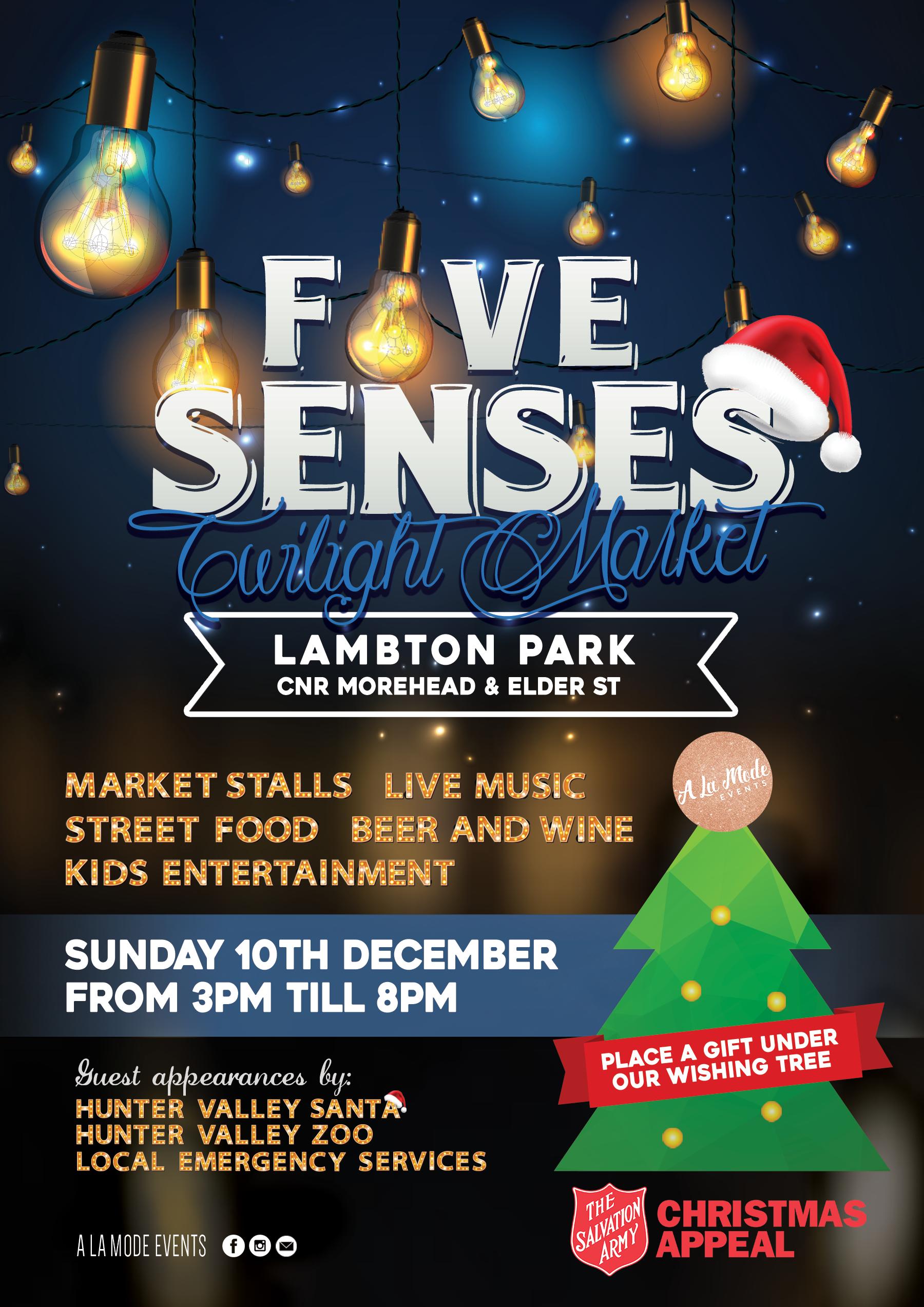 Five Senses December Flyer A La Mode Events