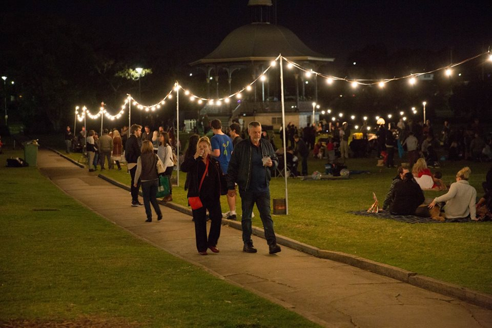 Five Senses Twilight Markets walking through the lights