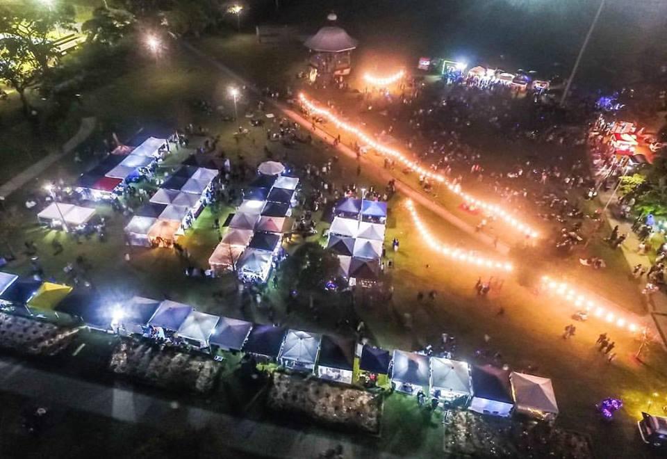 Five Senses Twilight Markets aerial shot