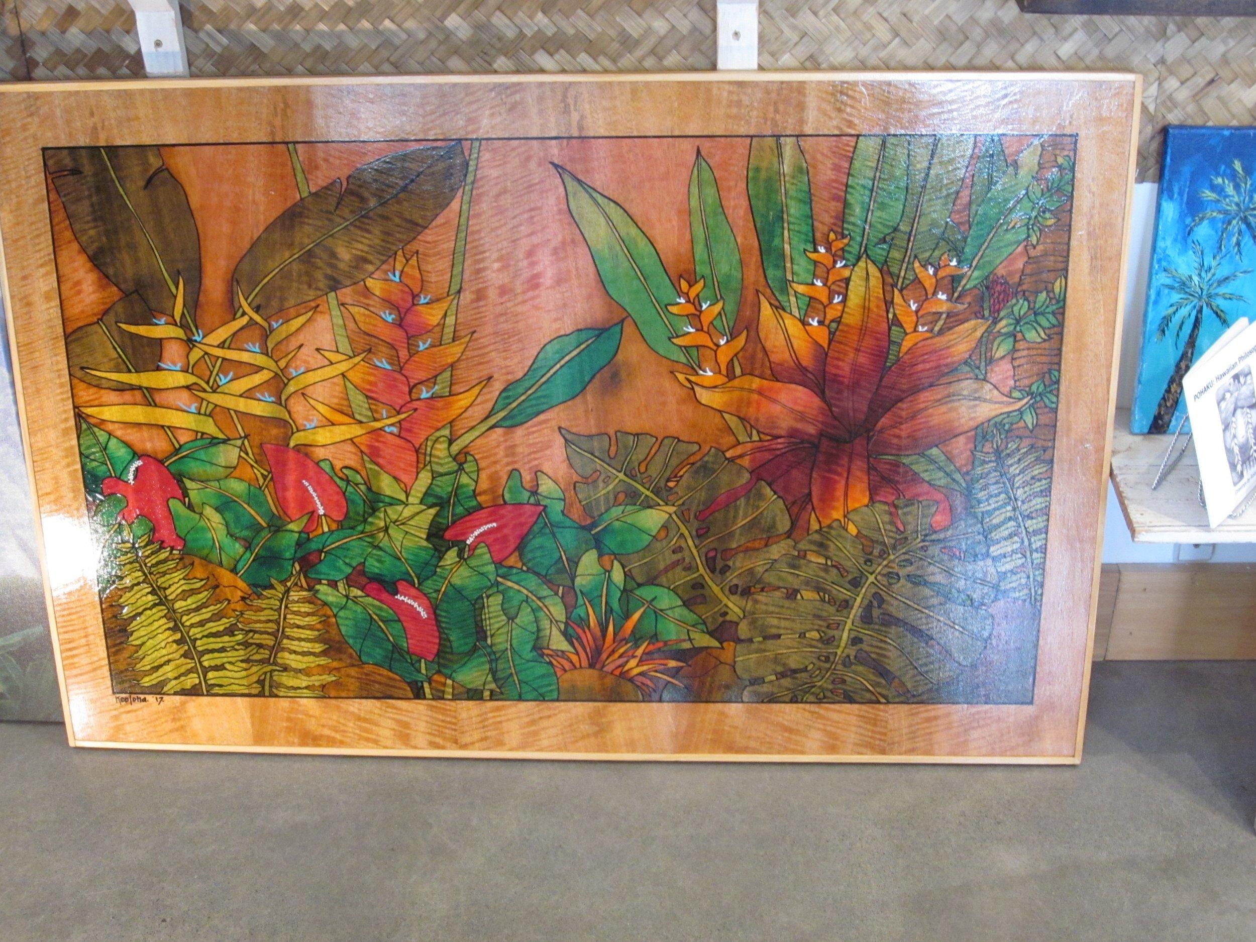 Batik on Mango wood