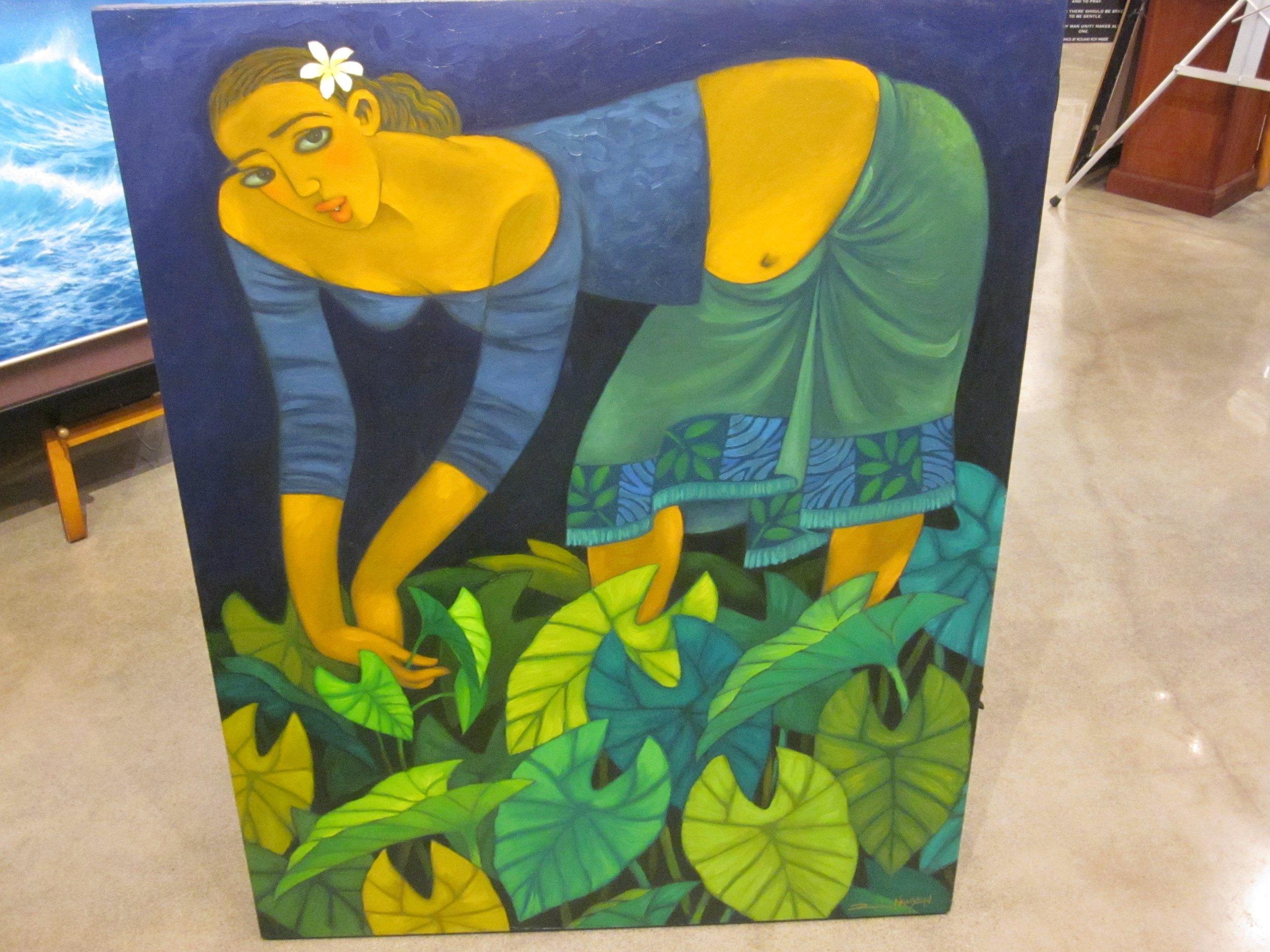 """""""Taro Taro"""" Oil on Canvas 32x40"""