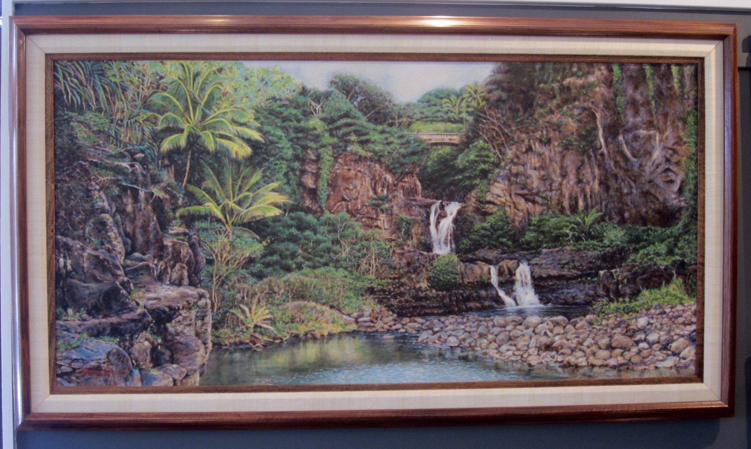 """Sacred Pools"""" 24x48 Oil on Canvas"""