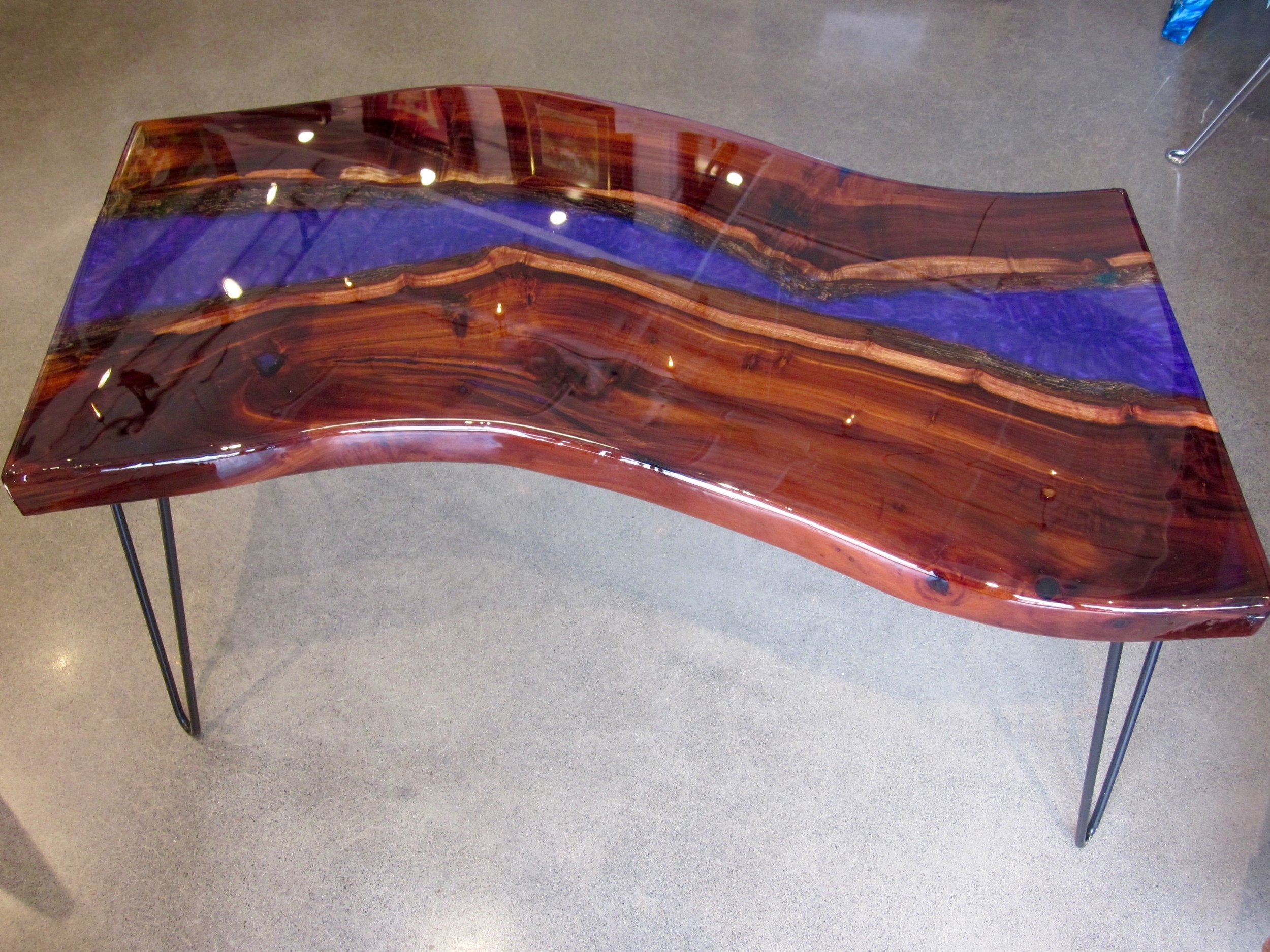 """Iris River"" table 16x36 Milo and Epoxy"