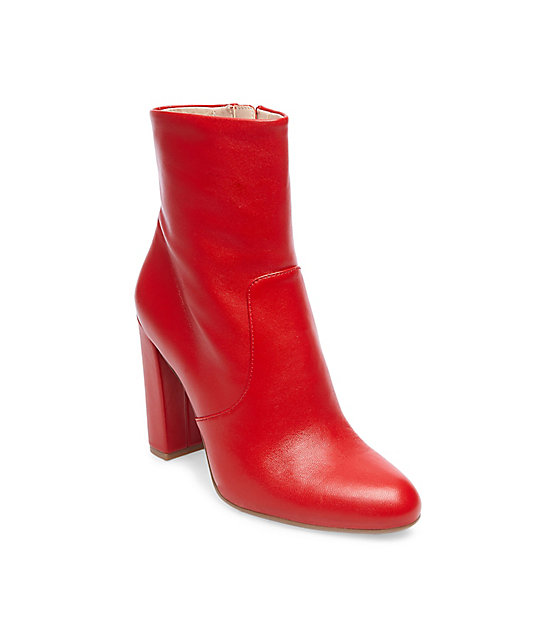 RED STEVE MADDEN BOOTS