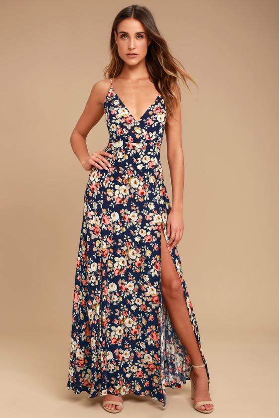 Everlasting bliss navy floral dress