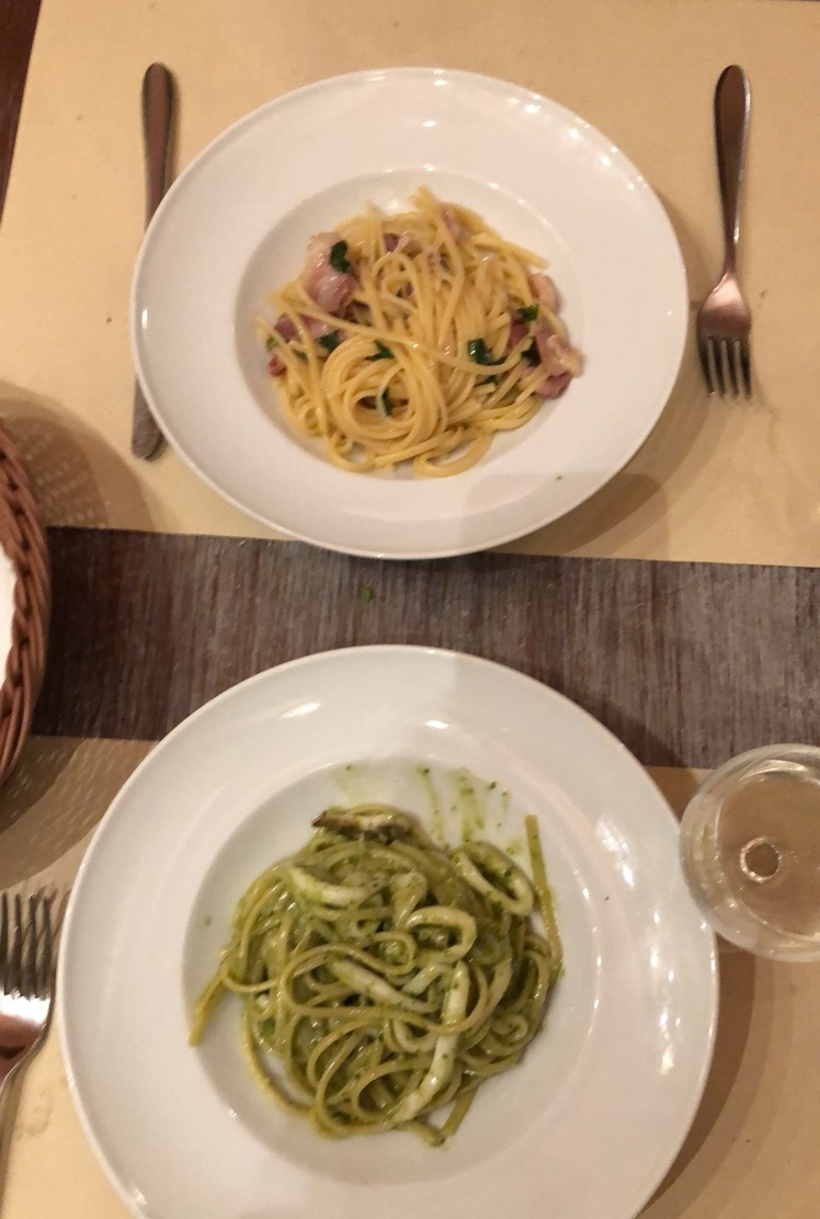 The pastas in Florence are much lighter than the ones in Rome. Simple ingredients and perfectly proportioned.