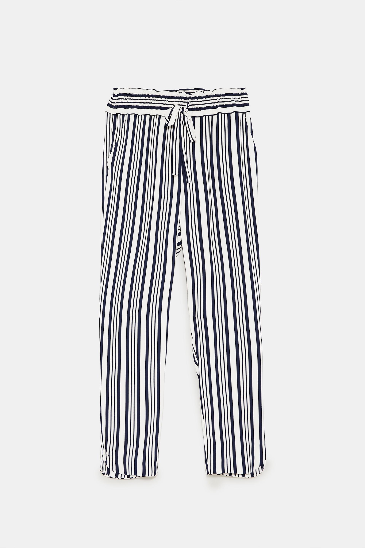 Zara loose fit stripe pants