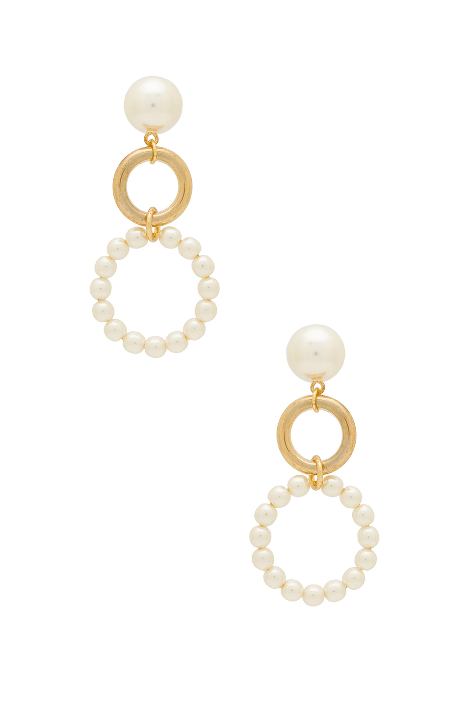 Gold and Pearl earrings