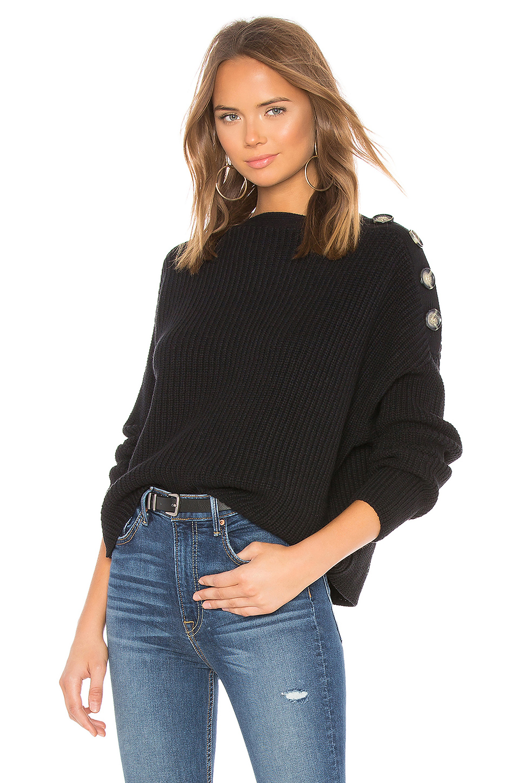 Bardot button sweater