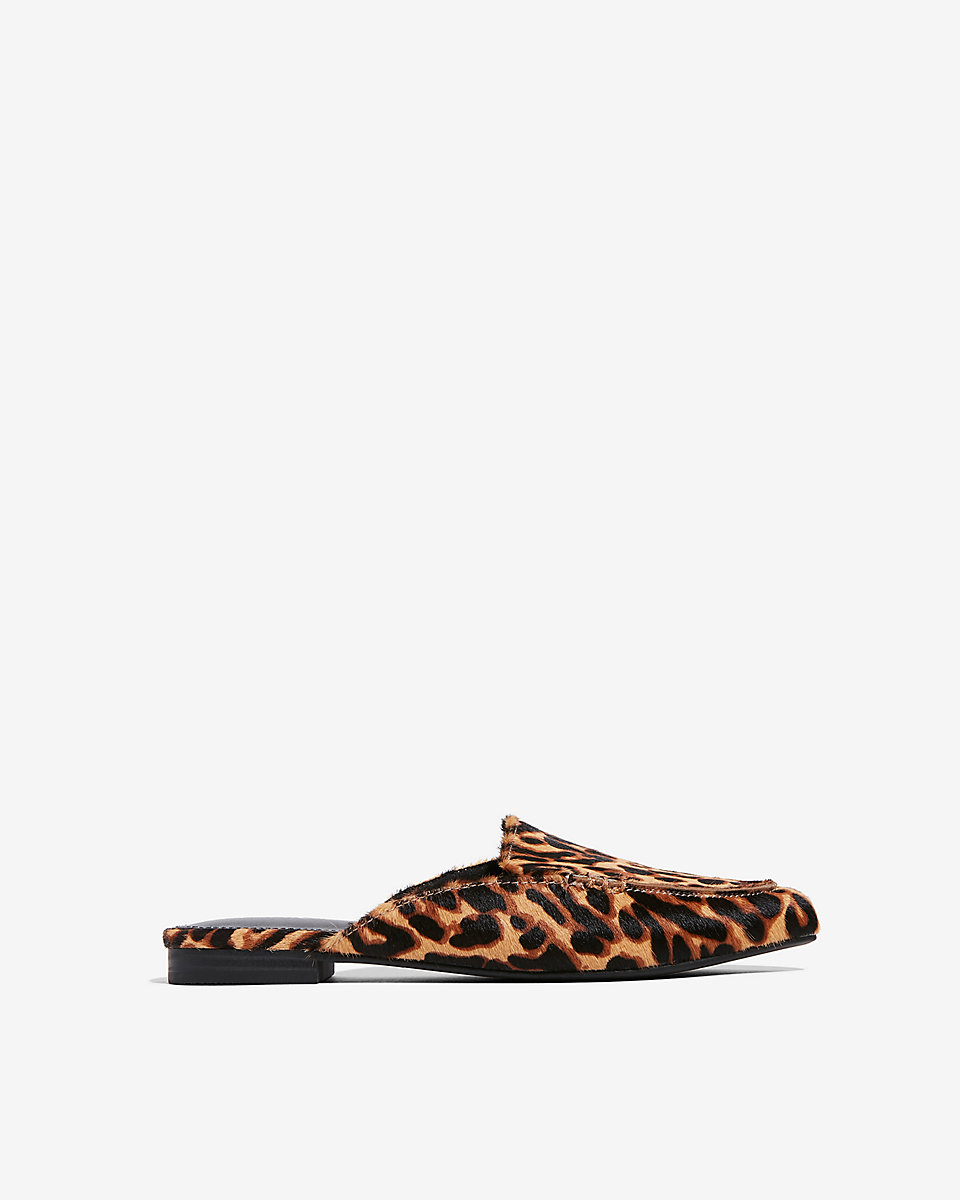 Express Leopard print loafers