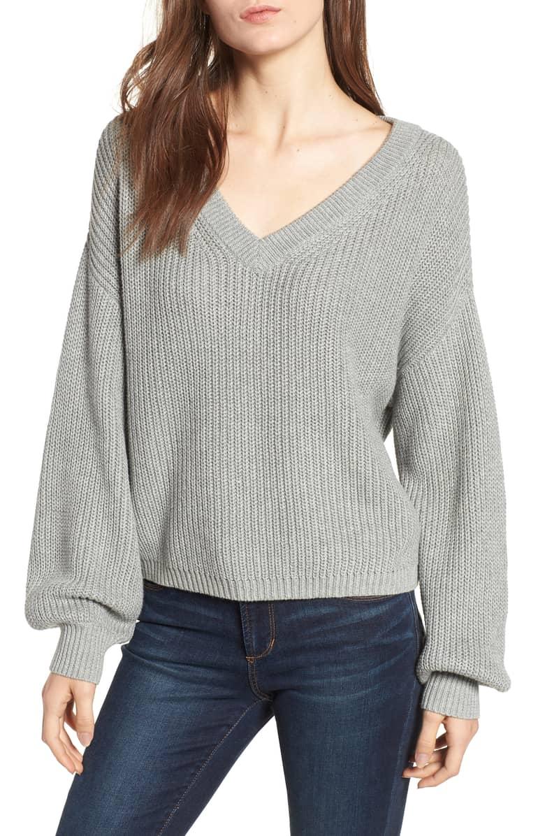 B.P. V Neck Cotton Sweater