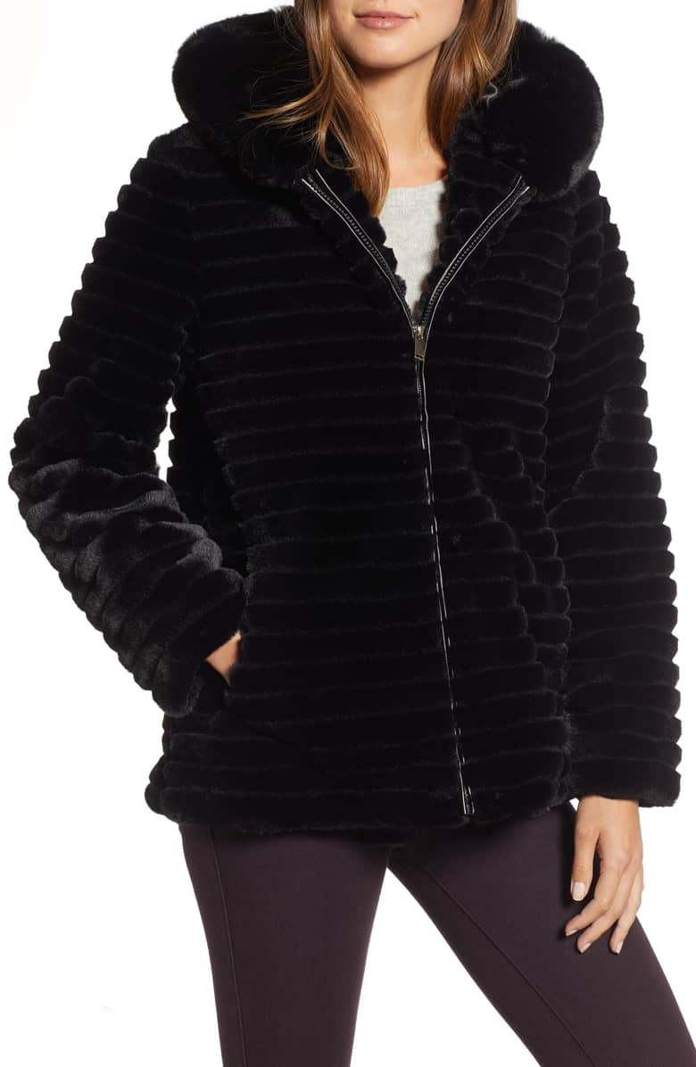 Gallery Faux Fur Hooded Jacket