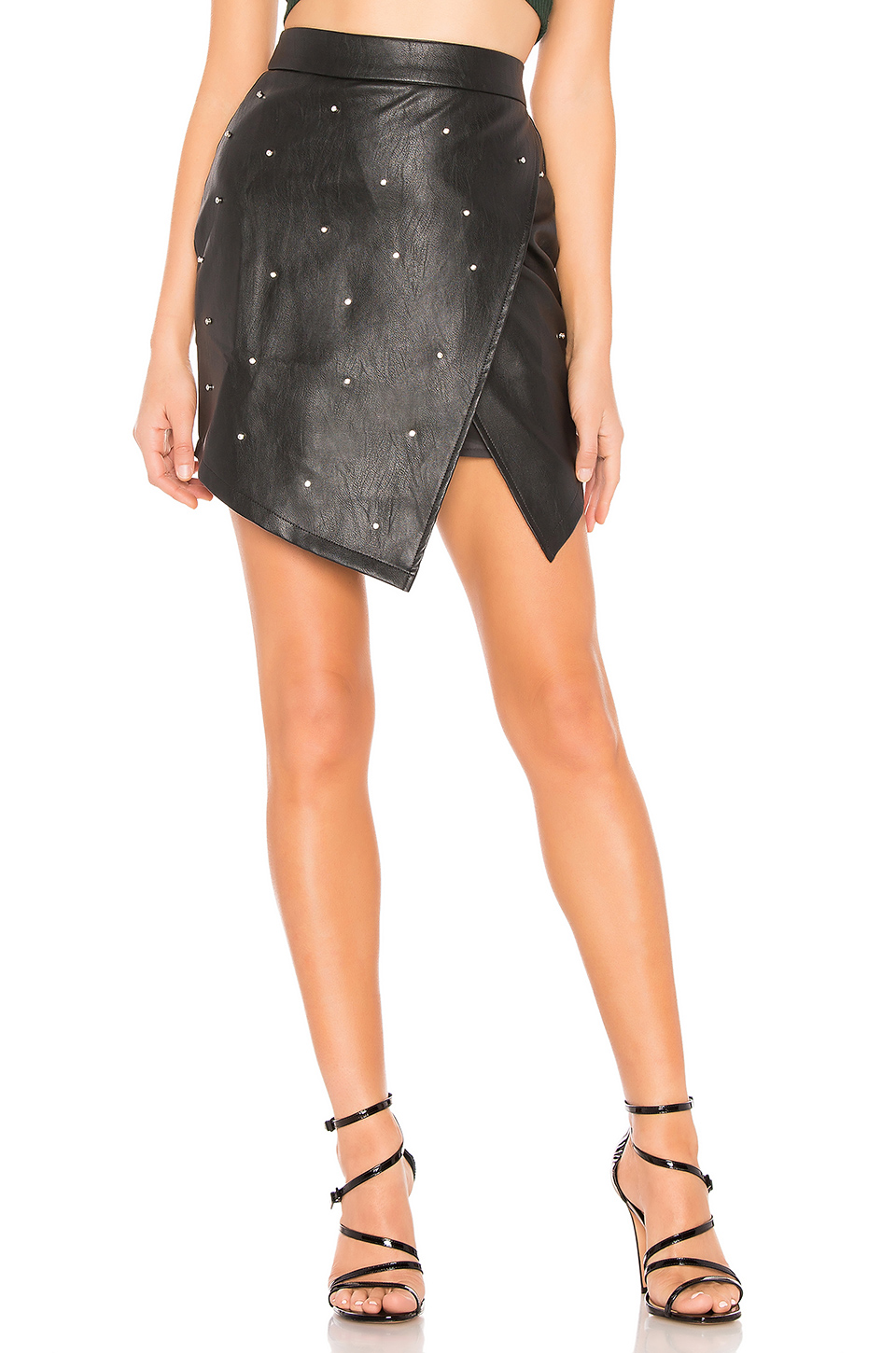 By the Way Faux Leather Skirt
