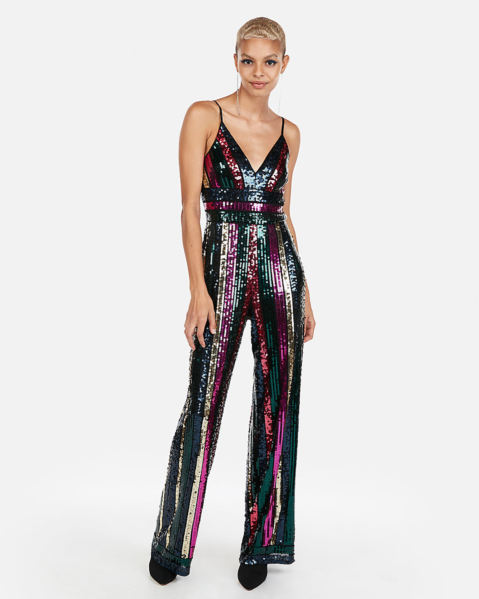 Express Sequin Jumpsuit