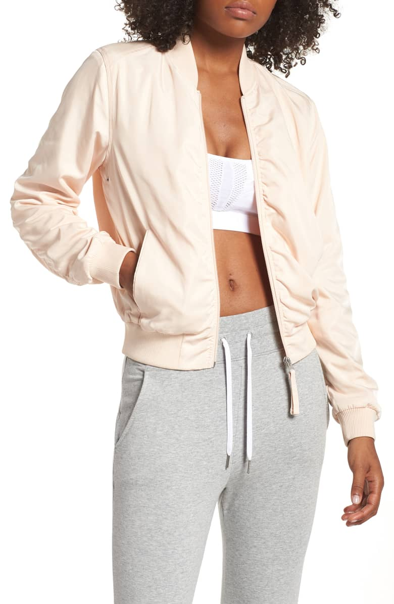 Zella Satin Bomber Jacket