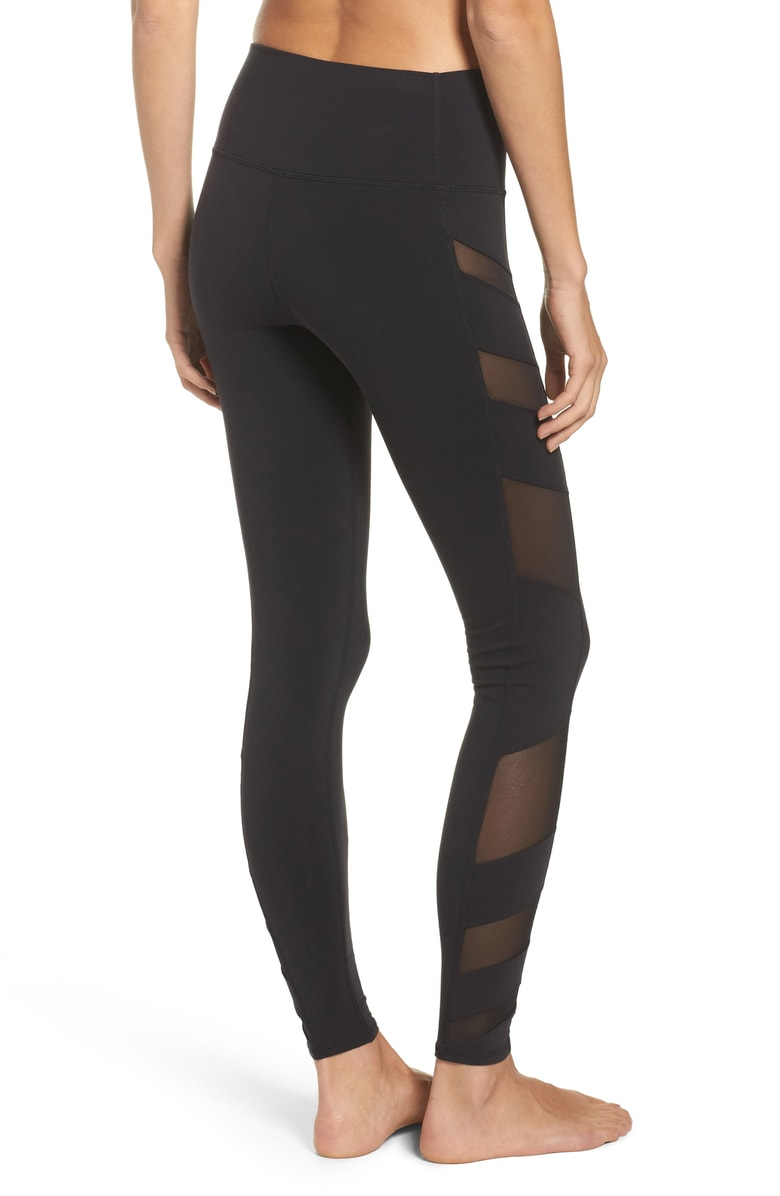 Alog Yoga Mesh Inset Leggings