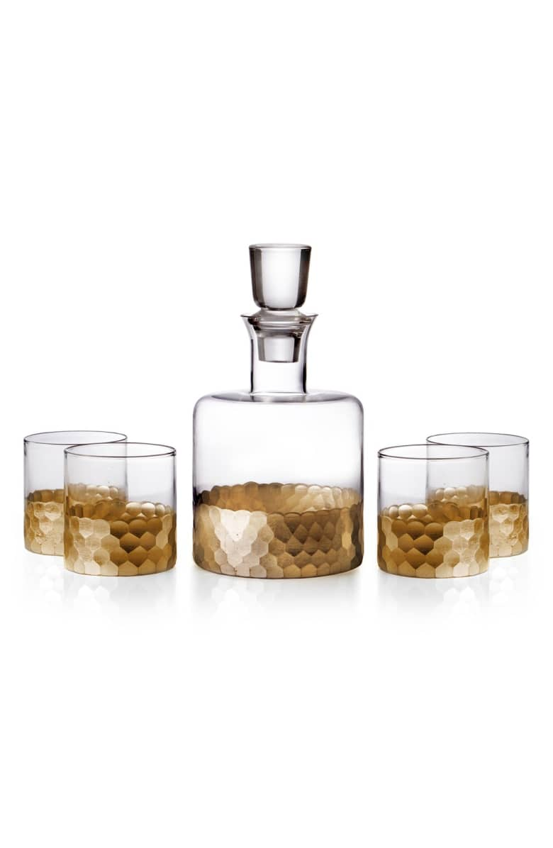 Decanter and Whiskey Glasses