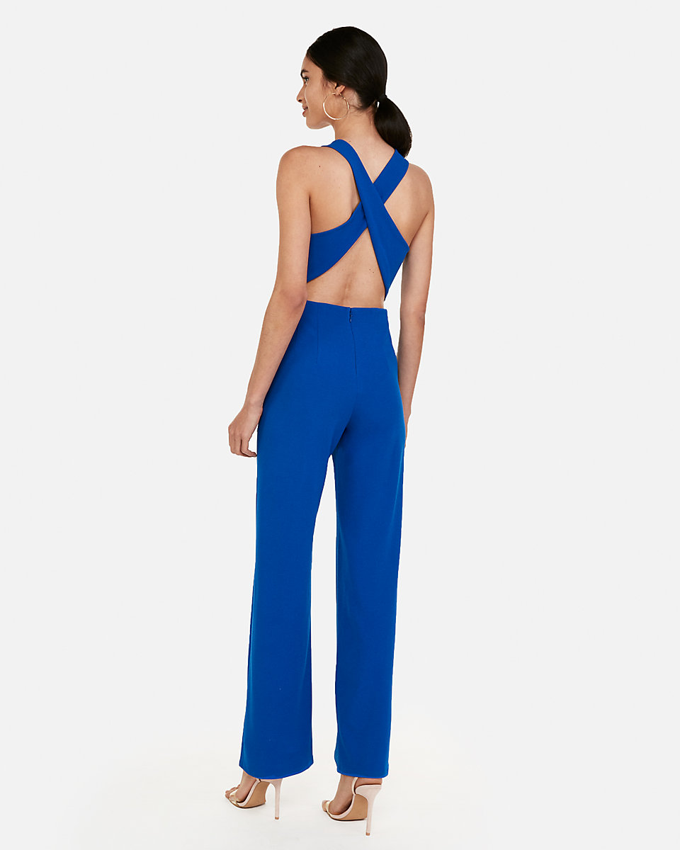 Express Cross Back Wide Leg Jumpsuit