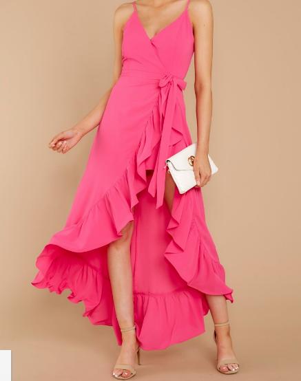 Hot pink Maxi Romper