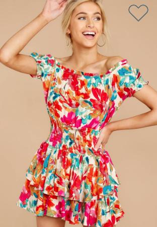Pink Floral print Dress