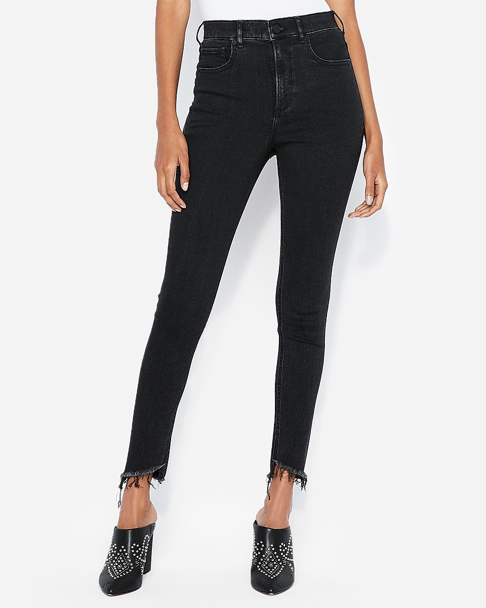 Super High Waisted Ankle Jeans