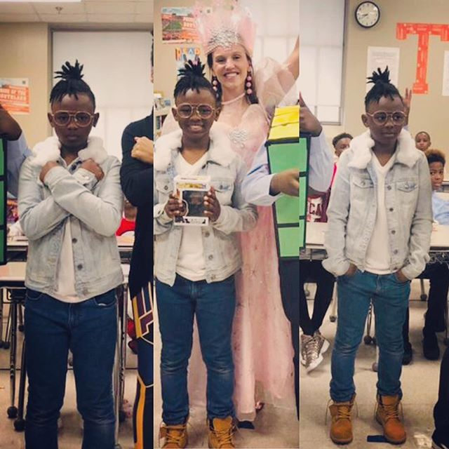 Congrats to one of our first class Dividend members, Sean, for placing in his class's costume contest. #wakandaforever @grizzliesprep #thedividend #killmonger #blackpanther