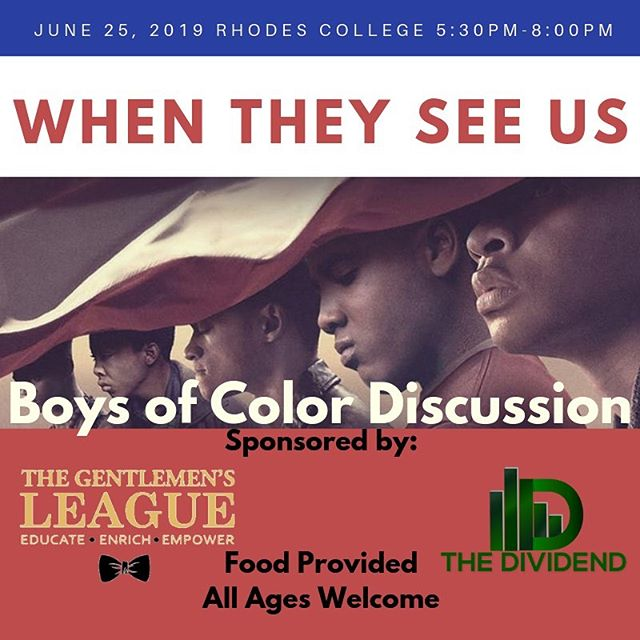 Join us and @thegentlemensleague for a conversation about @whentheyseeus .  Free admission and food will be served.  Link in bio