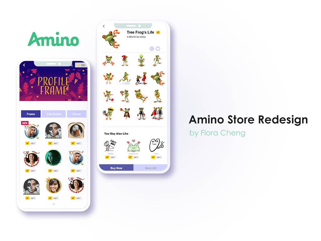 Amino sticker pack redesign - App store solution