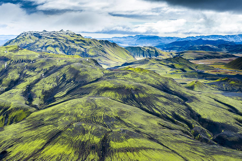 Lime Green Landscape, Vatnaoldur, Iceland, 2012