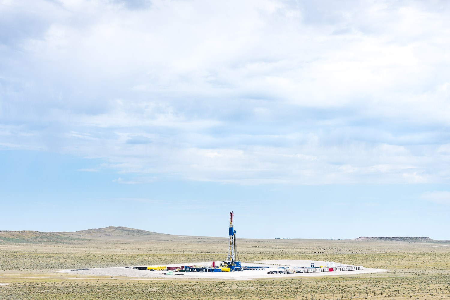 Rig and Cows, Pawnee Buttes, CO, 2013