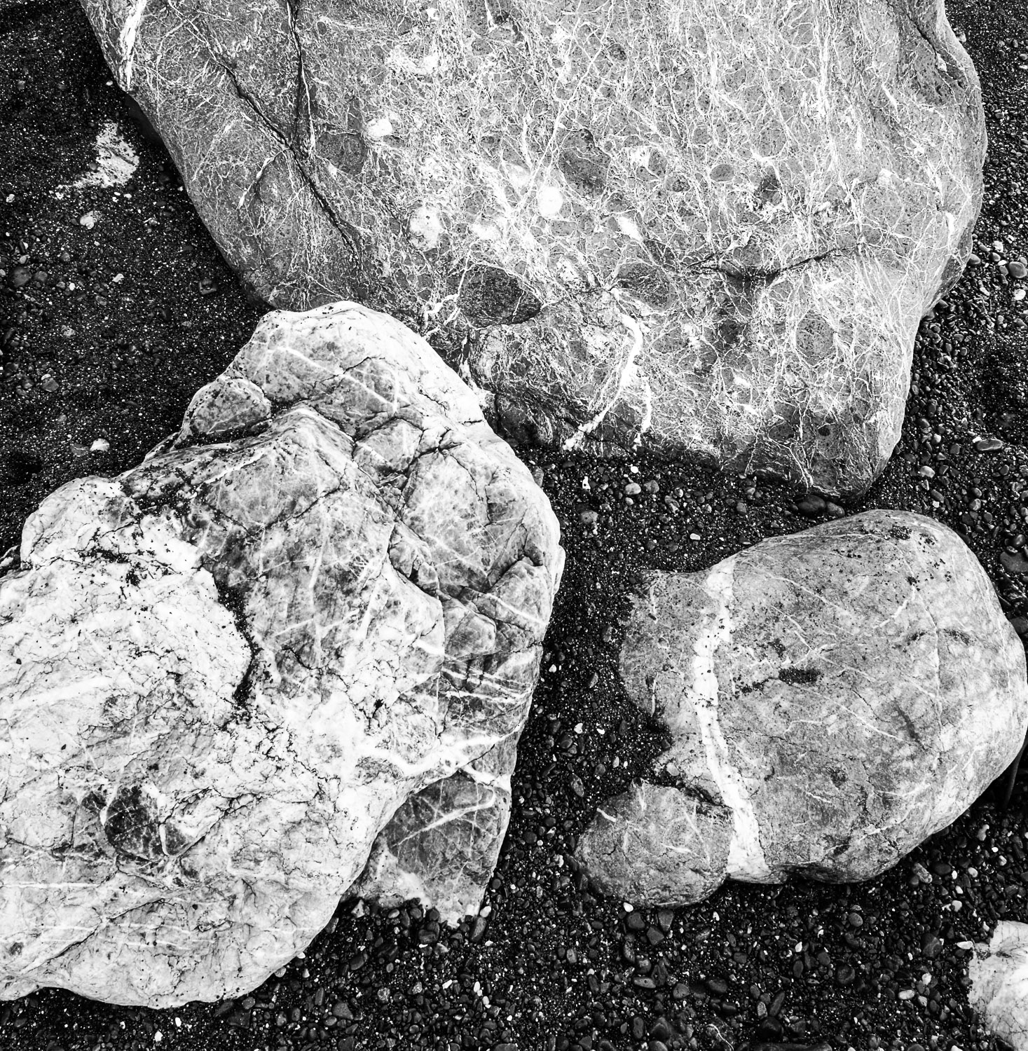 Sand and Rocks, Rockaway Beach, CA, 2006
