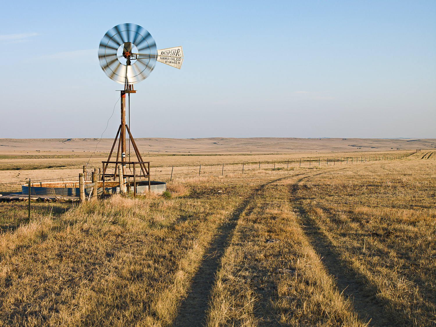 Stock Tank Windmill, Agate, CO, 2008