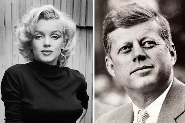 Marilyn Monroe and John F. Kennedy