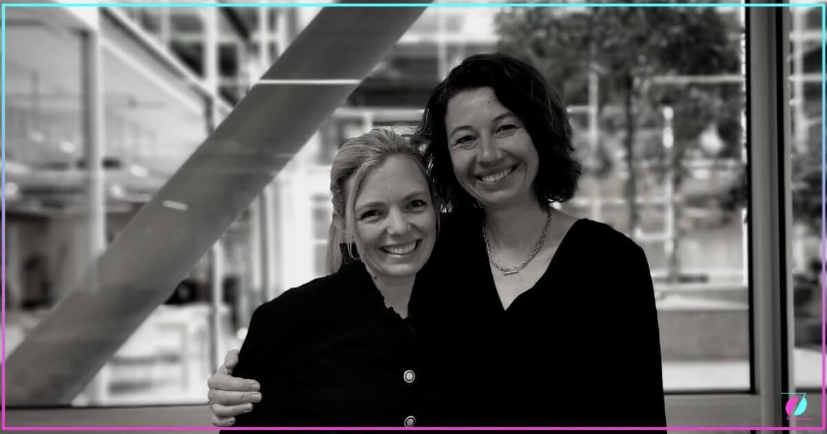 Marianne Wik Sætre ,  Innovation Director in Fana Sparebank with Silvija Seres fra LØRN.TECH.  Photo: Lørn.tech