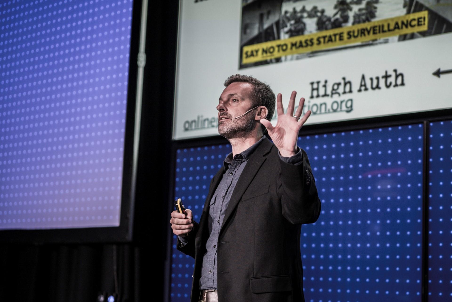 Professor David Carroll shared his Dark Data Quest at mcb tech