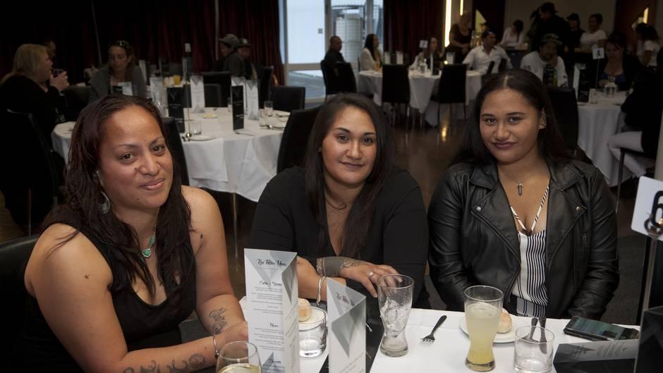 (l-r) Sandra Wilson, Wairua Noble, and Rania Noble. Fundraising dinner for the homeless at BOP Polytechnic.  Photo/Andrew Warner