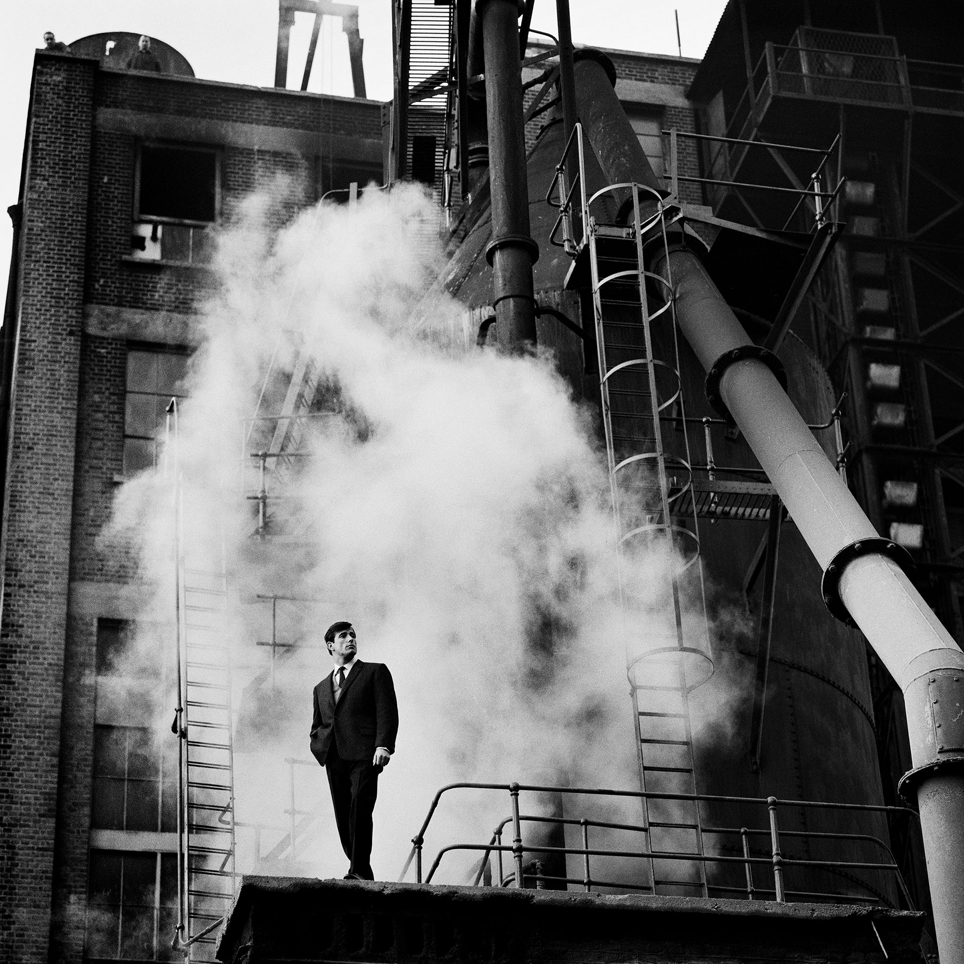 """Thermodynamic"", Fashion Shoot for Man About Town Magazine, Grove Road Power Station, 31st October 1960"