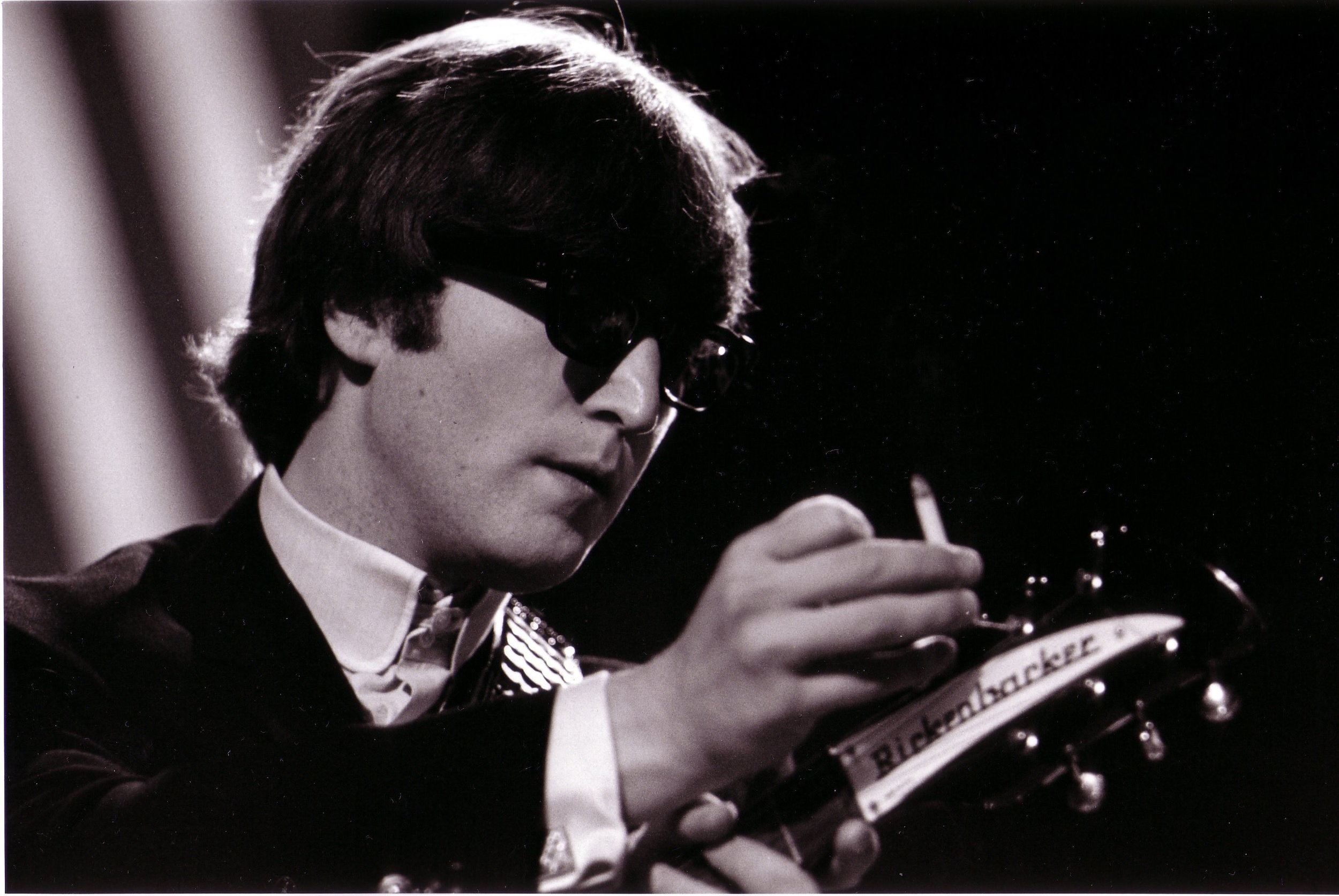 Me & My Rickenbaker: John Lennon at Rehearals for TV Show 'Top of the Pops', Teddington Studios, London, 1964