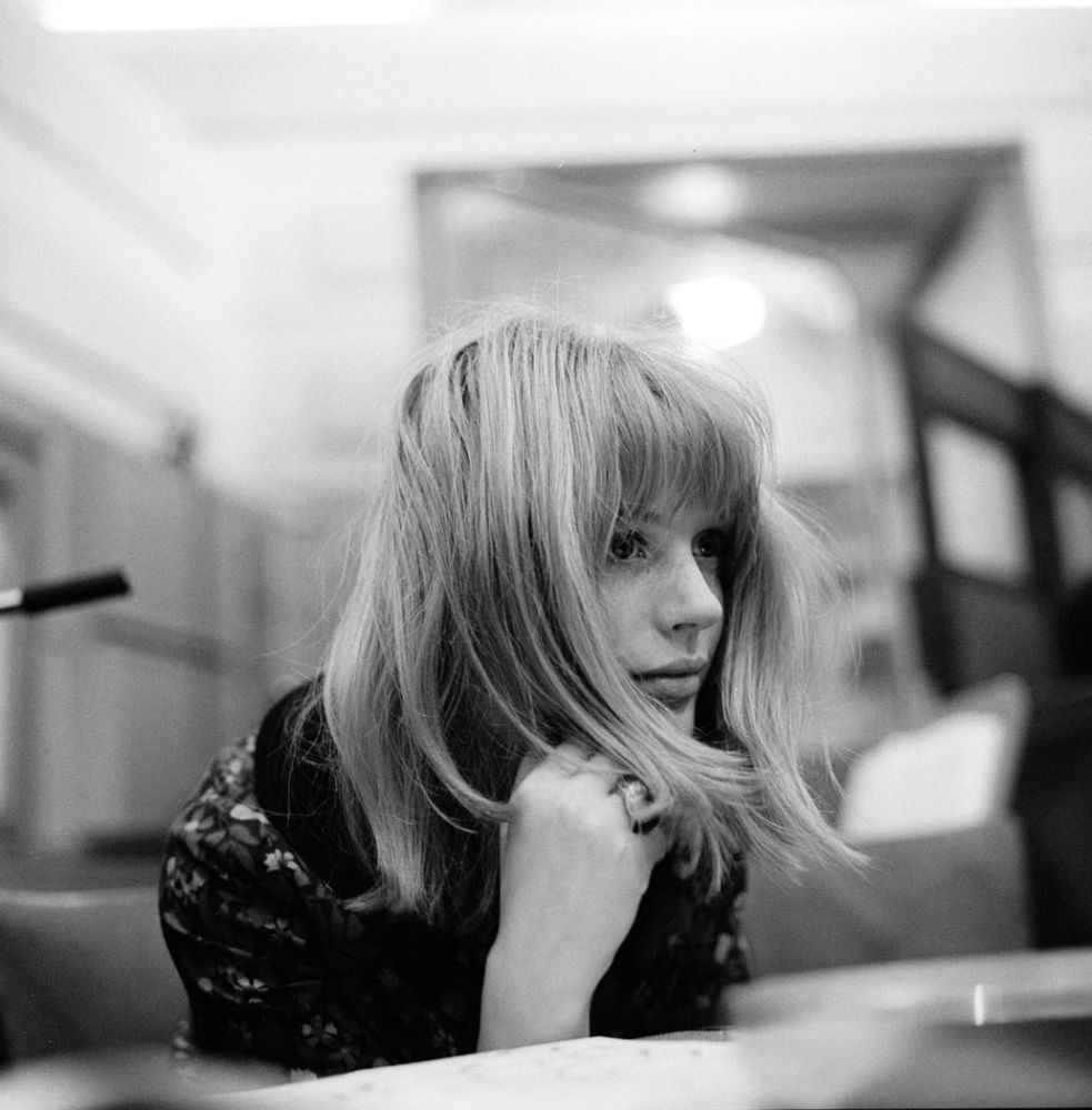 Marianne Faithfull Recording Studio, Decca, West Hampstead, London, 1964