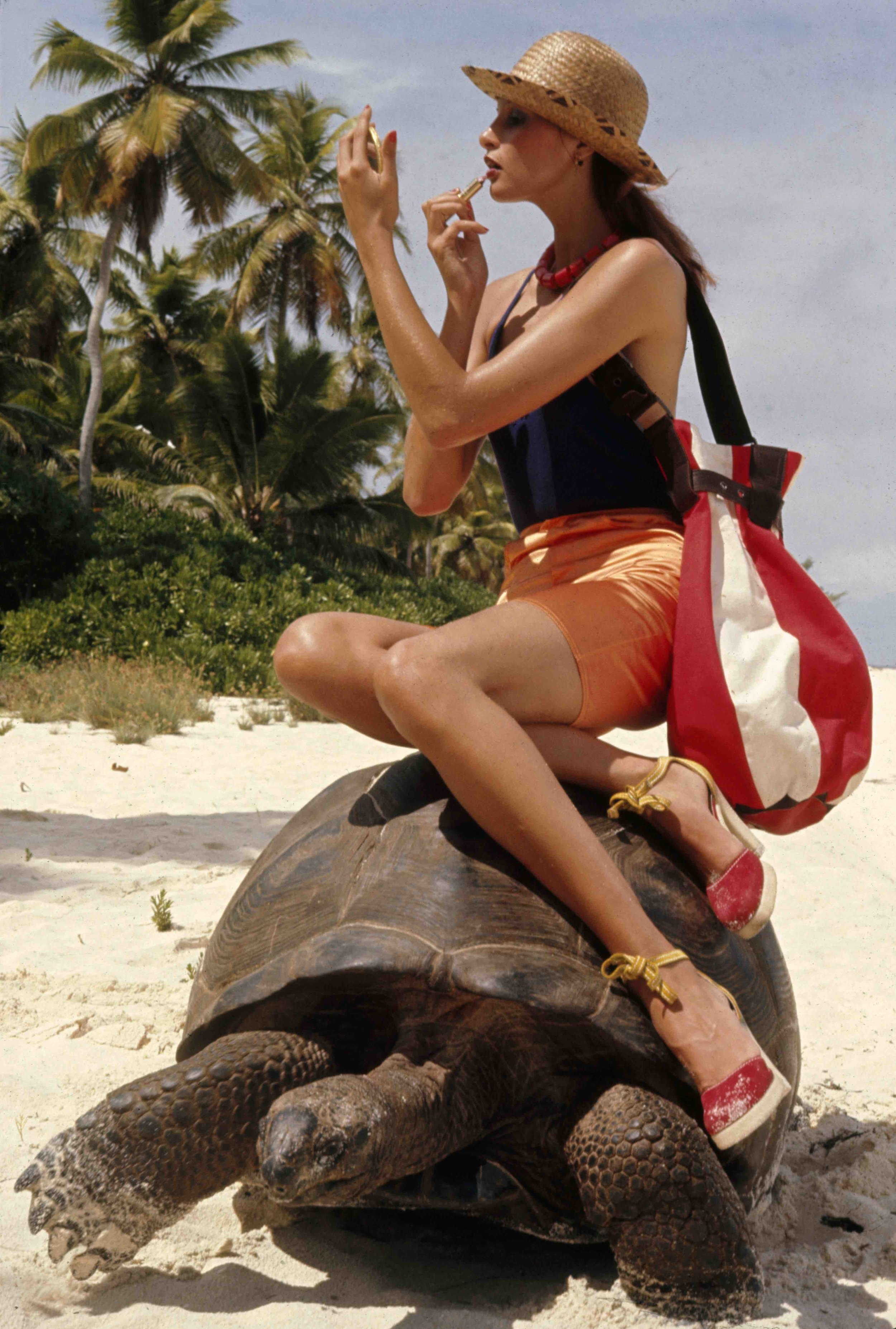 Apollonia van Ravenstein on Tortoise for Vogue Magazine, 1952
