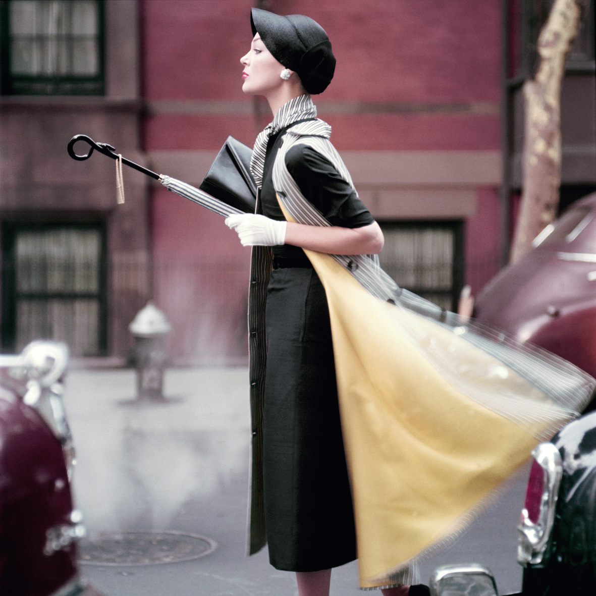 Traffic, Ivy Nicholson, New York City, Vogue Magazine, 1956
