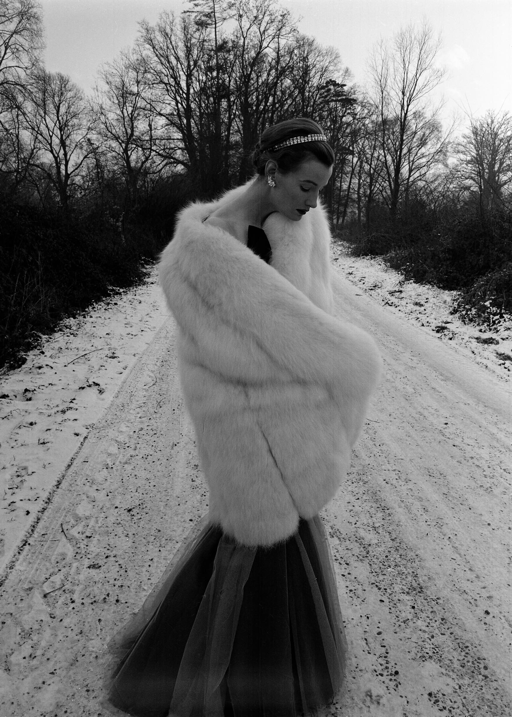 Wenda in Fur for Vogue Magazine, 1950