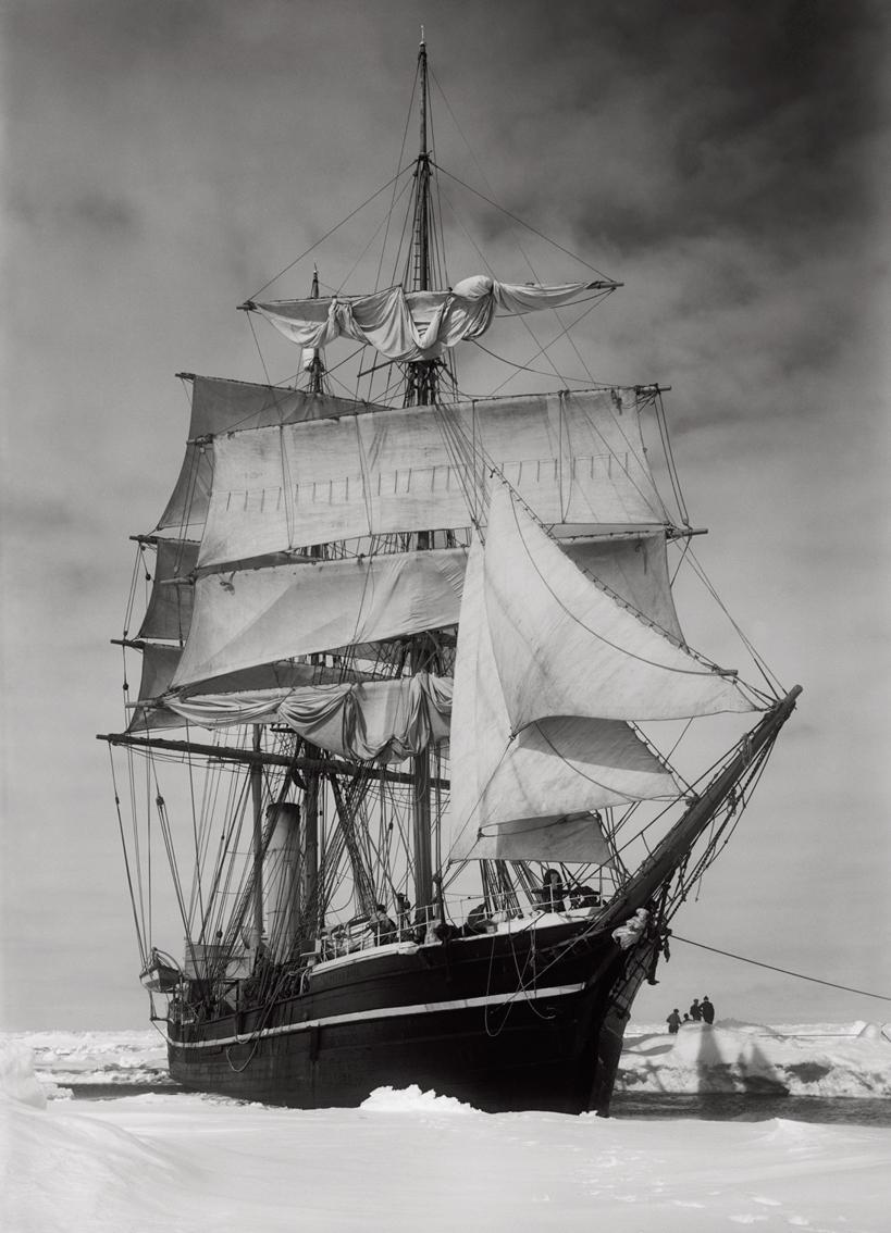 Terra Nova held up in the Pack, 1911