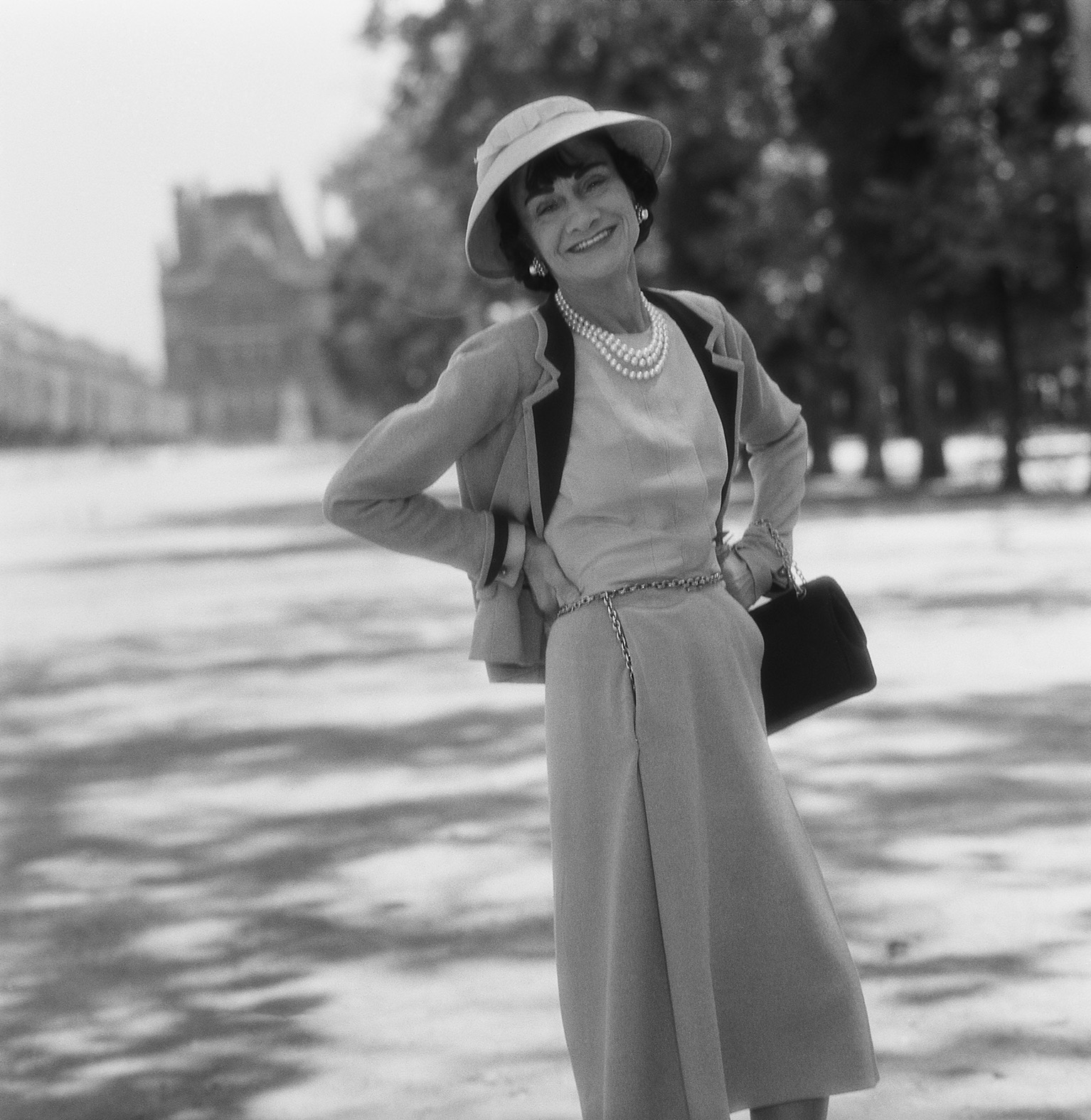 Mademoiselle Chanel in the Tuilleries Gardens, Paris, 1959