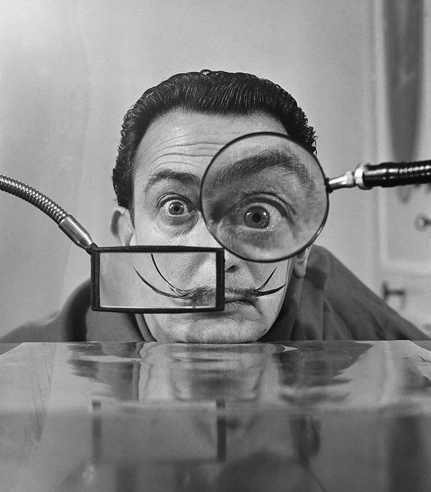 Salvador Dali woth Lenses, Paris, 1949