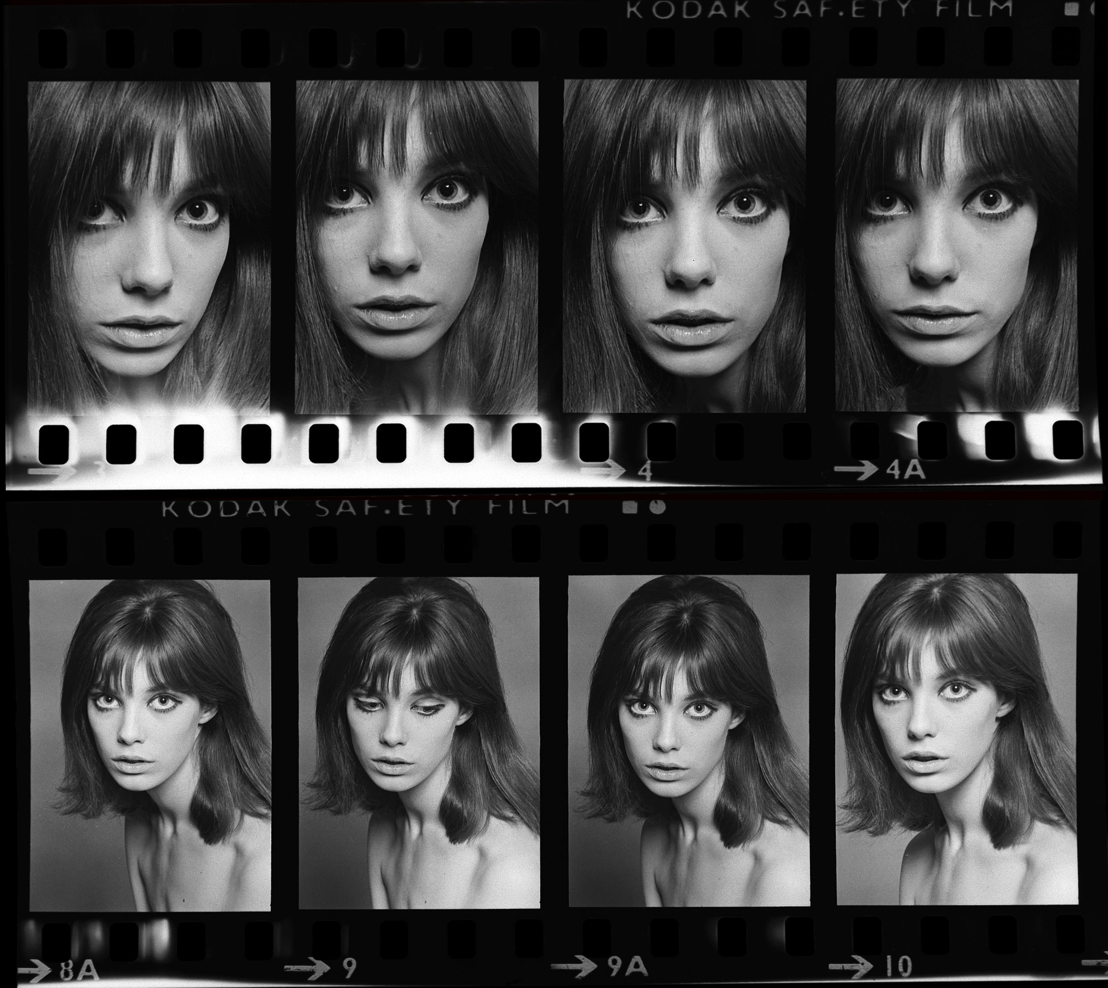 Jane Birkin Contact Sheet, 1965