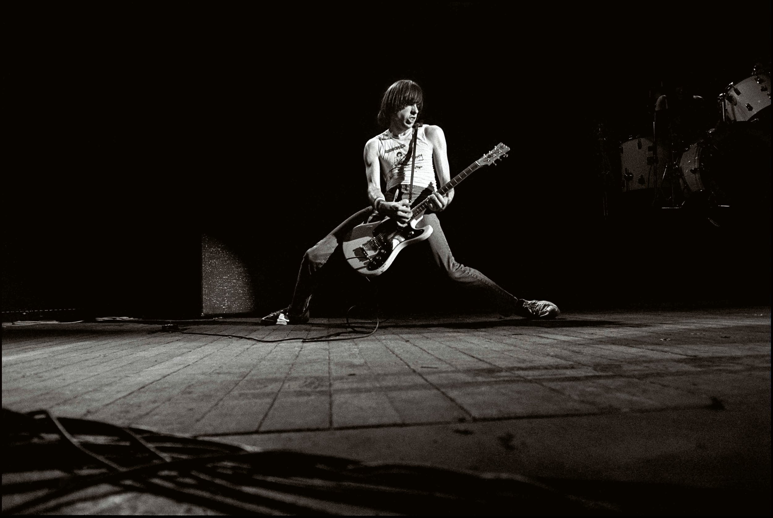 Johnny Ramone performing at Hammersmith Odeon, London, UK 1979