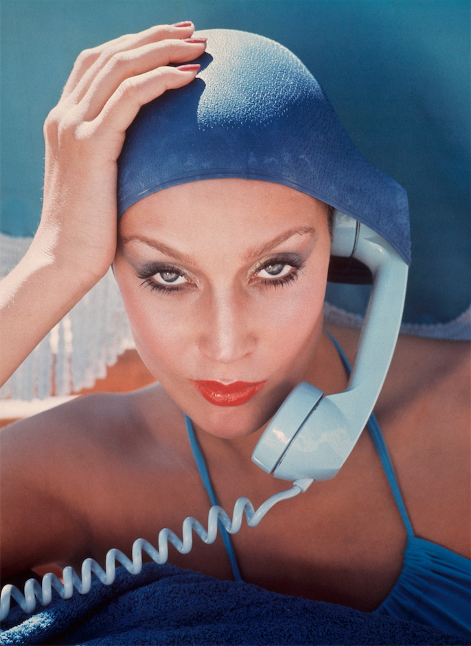 Jerry Hall, Jamaica for Vogue Magazine, 1975 by Norman Parkinson