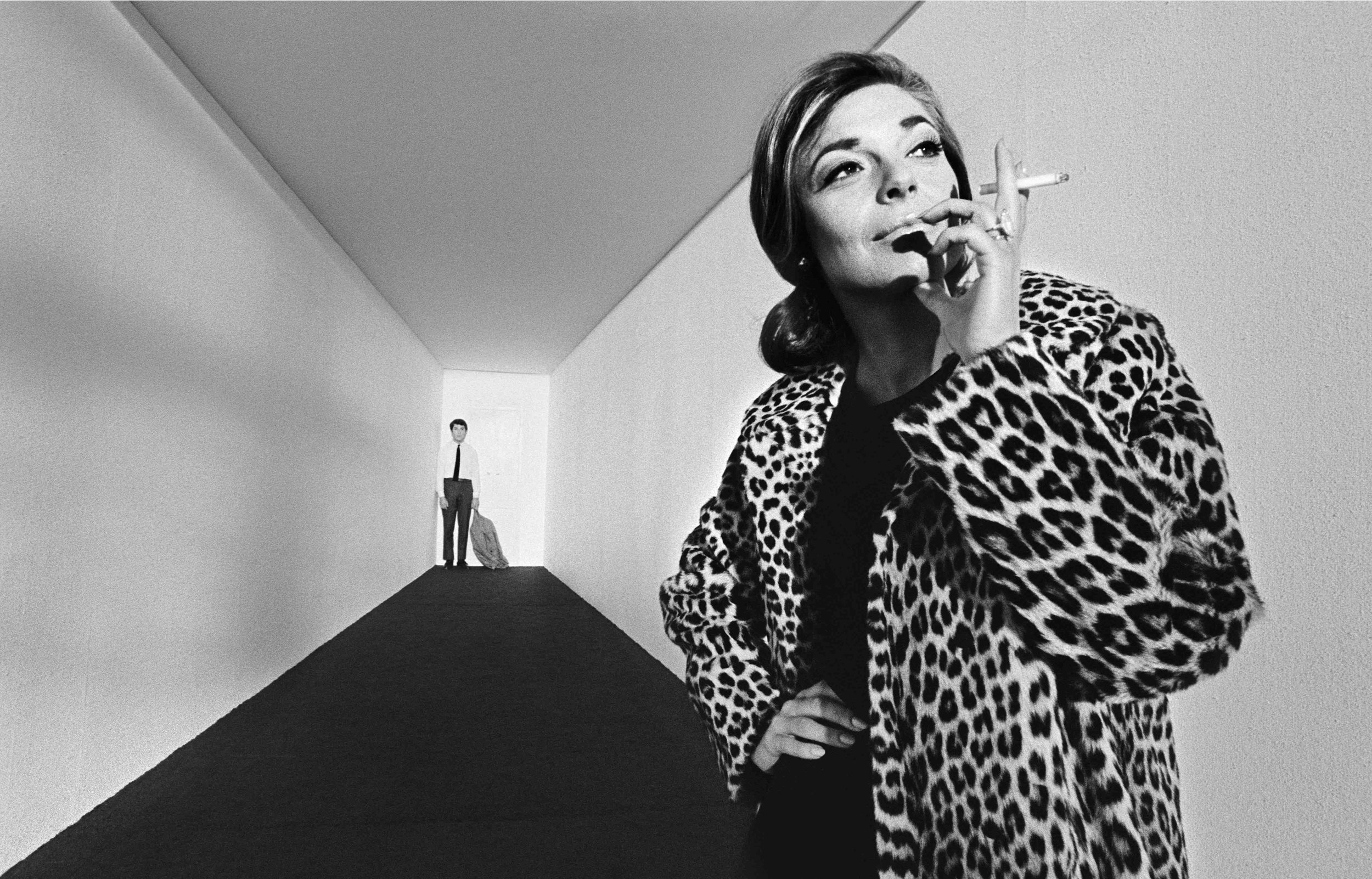 Dustin Hoffman & Anne Bancroft on a specially constructed set on The Graduate, 1967
